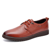 AOKANG 2018 Summer men shoes leather genuine leisure shoes men breathable light casual shoes brown