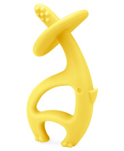 Mombella Dancing Elephant Teether Yellow
