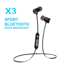 Original X3 3D Stereo HIFI Wireless Earphones Bass Bluetooth Headset For iPhone xiaomi Samsung vivo meizu Black