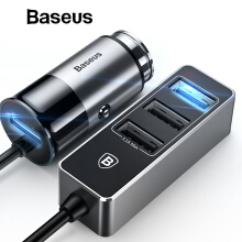 Baseus 5.5A 4 Ports USB Car Charger Multiple Expander Car-Charger Adapter Fast Charge Mobile Phone Charger