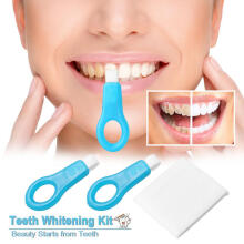 Farfi 7Pcs Teeth Whitening Kit Nano Tube Tooth Cleaning Whitener Brush Stains Remover as the pictures