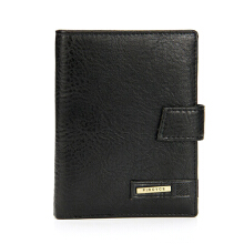 Zanzea 0051Men Trifold Wallet Multifunction Checkbook Wallet Credit Card Holder Brown