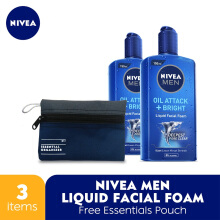 NIVEA MEN Liquid Facial Foam + Free Essentials Pouch