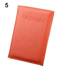 Farfi Dedicated Nice Travel Passport ID Card Cover Holder Protector Case Organizer Orange