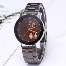 IMPORT JAM COUPLE STAINLESS JAM FASHION PRIA WANITA Black