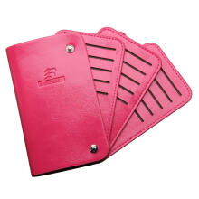 Zanzea 0051Men Woman Slim ID Credit Card Leather Holder Pocket Case Purse Wallet Button NEW Pink