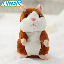 Jantens 15cm funny talking hamster sound rap record repeat filled stuffed animal kawaii hamster toy
