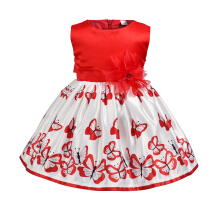 Aosen  Yoyoxiu CX1222 - 1 Girl Sleeveless Dress Skirt Butterfly Print