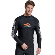 SBART Quick Dry Men Long Sleeve Diving Snorkeling T Shirts Rash Guards Tops Jellyfish Swimming Surfing Tops Stretchy Sunsc