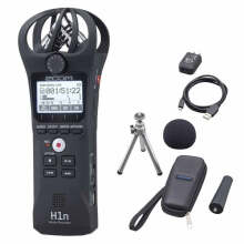Zoom H1N Ultra-Portable Digital Audio Recorder + APH-1N Accessory Pack Black