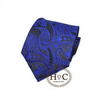 Houseofcuff Dasi Neck Tie Motif Wedding Best Man DARK BLUE PAISLEY BATIK TIE Blue
