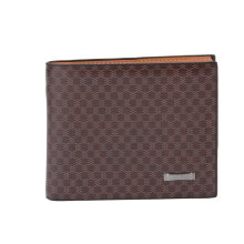 [LESHP]JINBAOLAI Fashionable Men Male Short Type PU Leather Card Wallet Coffee Coffee