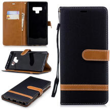 MOONMINI for Samsung Galaxy Note 9  PU Leather Drooproof Wallet Phone Shell with Card Slots Cover