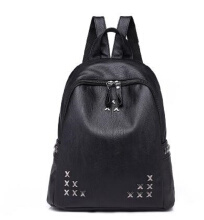 YOOHUI PB1 fashion backpack student bag ladies backpack PU bag travel bag black