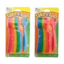 The First Years Take & Toss Infant Spoon 4m+ - 12 Pack Color Blue