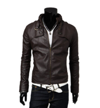 MMIOT Men's Fashion Winter Autumn Warm Motorcycle PU Leather Jacket