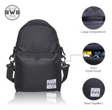 Woof Pack - Daily Sling Tsling 1.0 Black Hitam