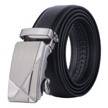 Dandali imported fashion wild PU leather automatic buckle men's belt Black