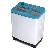 Sanken TW-1130BU Mesin Cuci Twin Tub [9 kg] White Blue