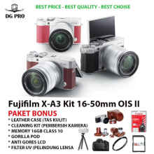 FUJIFILM X-A3 KIT 16-50MM PAKET BONUS LEATHER CASE 16GB FUJI FILM XA3