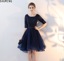 SHUMING- Dress Wedding dress Evening Dresses Blue S