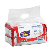 PIGEON Baby Wipes Pure Water - 82 Sheets Isi 2 Pcs