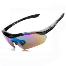 Farfi 5 Lens Cycling Sunglasses Sport Glasses UV400 Outdoor Bicycle Eyewear Goggles