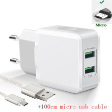 DELIVE 2.5A Dual USB Charger Fast Charging For xiaomi oppo vivo Samsung iPhone