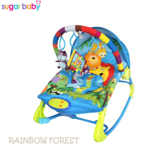 Sugar Baby Rainbow Forest 10 in 1 Premium Baby Bouncer Rocker - Ayunan Bayi - Biru
