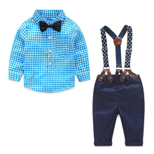Short Sleeve Shirt+Bowtie+ Pants Clothing Set,Baby Boys Gentleman Outfits Suits