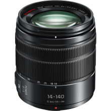 [free ongkir]Panasonic Lumix G Vario 14-140mm f/3.5-5.6 ASPH. POWER O.I.S - Black