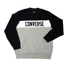 CONVERSE Colorblock Crew - Black/Vintage Grey Heather