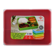 VICTORYHOME Lunch Box 1600ml - Red