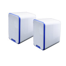 M12 Mini Home Loud Speaker Portable USB Interface Music Louderspeaker Box White