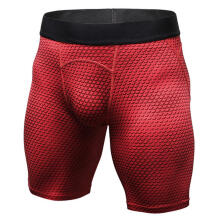 Farfi Men Sports Shorts Breathable Running Fitness Elastic Tight Quick Dry Short Pants