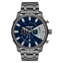 Diesel DZ4358 Stronghold Men Blue Dial Grey Stainless Steel [DZ4358]