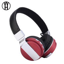 WH BT008 Head-mounted metallic paint motion card stereo headset wireless Bluetooth headphone for xiomi samsung iphone huawei