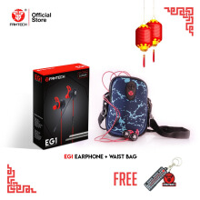 IMLEK PACKAGE FANTECH EARPHONE EG-1 & WAIST BAG POUCH FREE KEYCHAIN