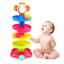 Jantens Rolling ball bell toy pile tower puzzle children rattle 0-24 months child newborn education learning Multicolor