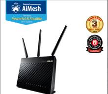 ASUS RT-AC68U AC1900 WiFi Dual-band Gigabit Wireless Router with AiMesh & AiProtection