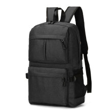 [COZIME] 17 Inch Men Laptop Backpack Large Capacity College Polyester fiber Backpack Light Grey1