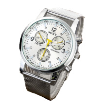 BANGLONG Man Business Watches Metal Strap Hand Watch -Onesize -Silver