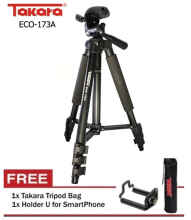 Mitrabotol - Tripod TAKARA ECO 173a plus holder for Camdig, actioncam dan Hp