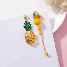 Jantens 2018 New Summer Ear Accessories Sweet Fruit Asymmetric Earrings For Women