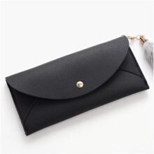 jantens    Fashion Brand Leather Women Wallets Long Thin ladies coin Purse Cards Holder Clutch bag