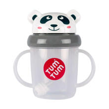 Tum Tum Tippy Up Cup Panda Botol Minum Anak - Grey