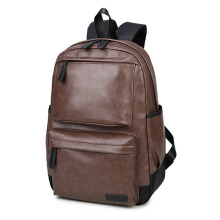 Jantens new leather fashion brand men's backpack