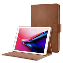 Spigen Leather Stand Folio Case for iPad 9.7 - Brown