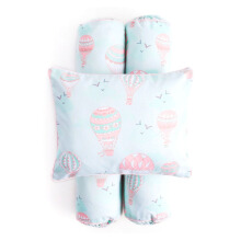 COTTONSEEDS Pillow and Bolster Set Hot Air Baloon