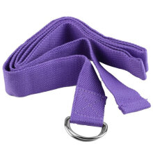 [COZIME] Yoga Stretch Strap D-Ring Belt Figure Waist Leg Fitness Exercise Gym Purple